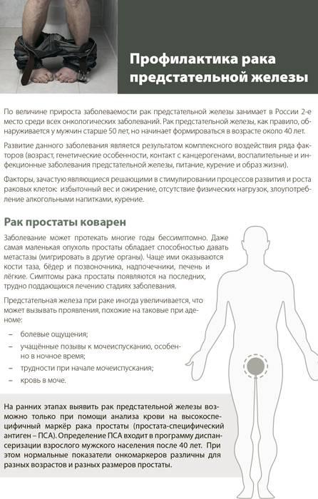 Профилактика рака простаты