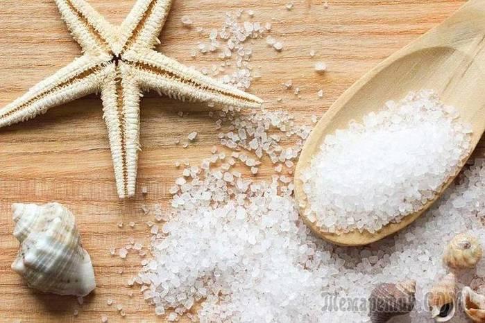 Применение морской соли от прыщей