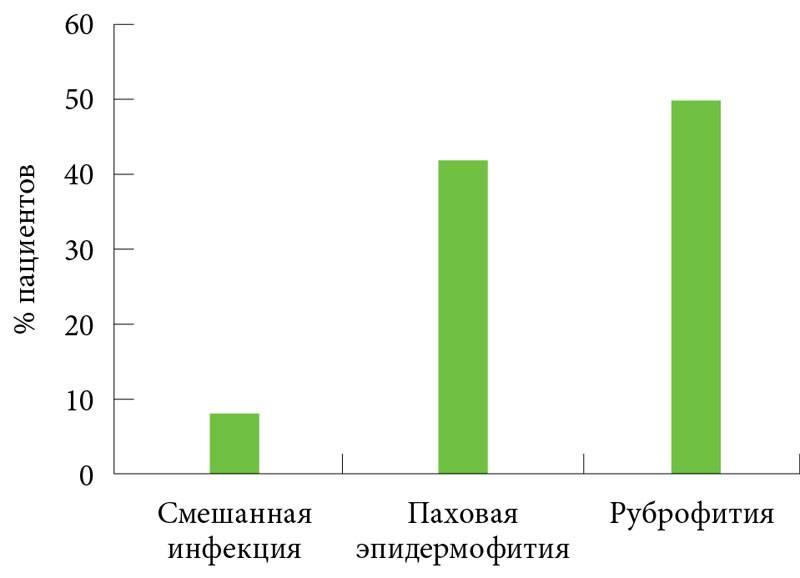 Паховая эпидермофития: фото, симптомы, лечение