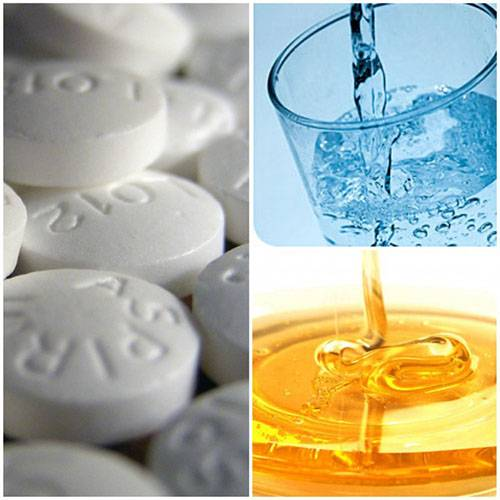 Маска с медом и аспирином для лица