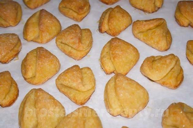 Творожное печенье «Гусиные лапки» без яиц