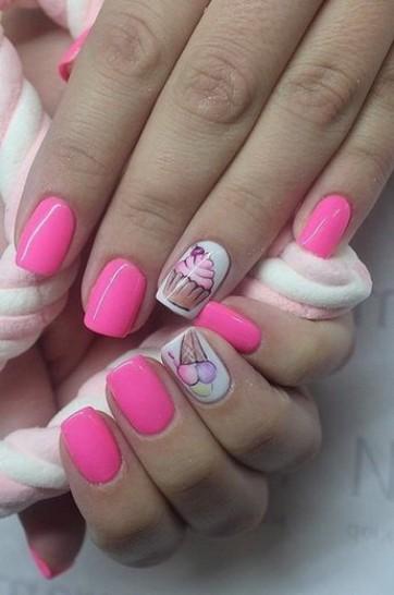 Весенний маникюр: розовая палитра