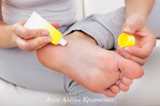 Аптечные средства от натоптышей на ступнях и мази