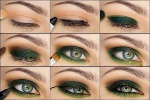 Макияж глаз тенями. Варианты макияжа для зеленых глаз