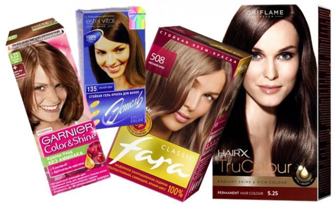 Какие бывают краски для окрашивания волос
