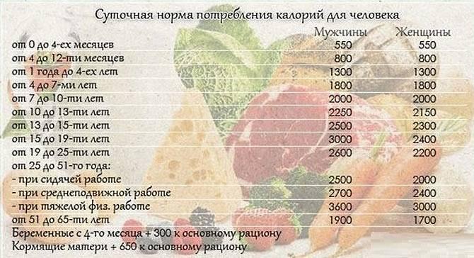 Норма калорий в день —формула. как рассчитать суточную норму калорий?