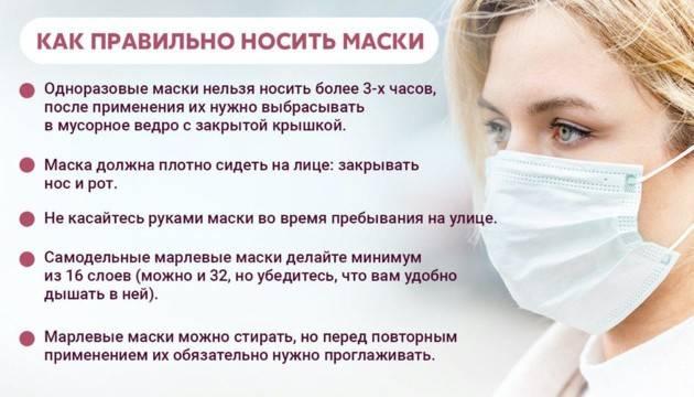 Как носить маску для защиты от covid-19