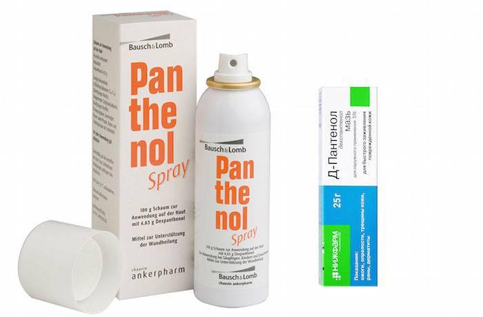 Спрей, крем и мазь пантенол: инструкция по применению