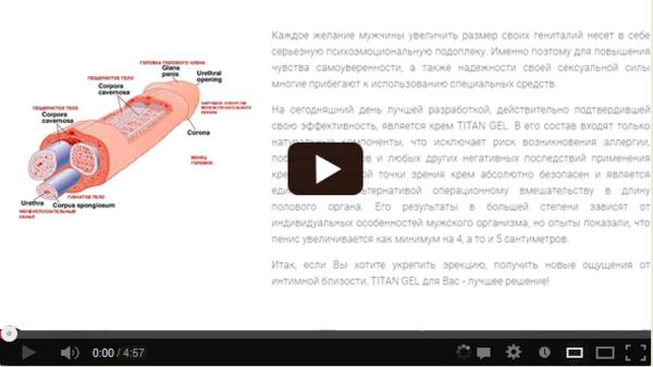 Титан гель для титанической потенции