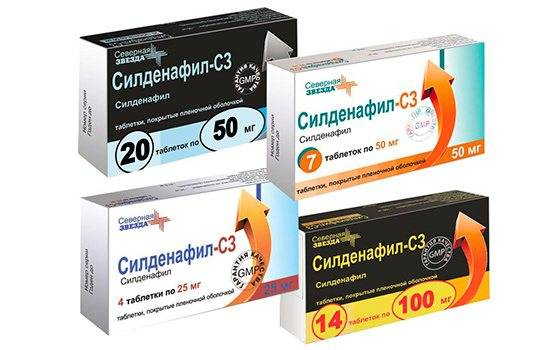 Как принимать таблетки силденафил