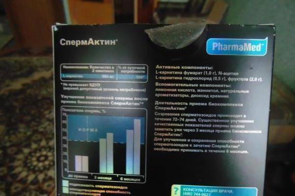 Бад «спермактин»: отзывы, аналог