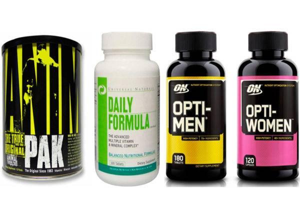 Витаминные комплексы для бодибилдинга