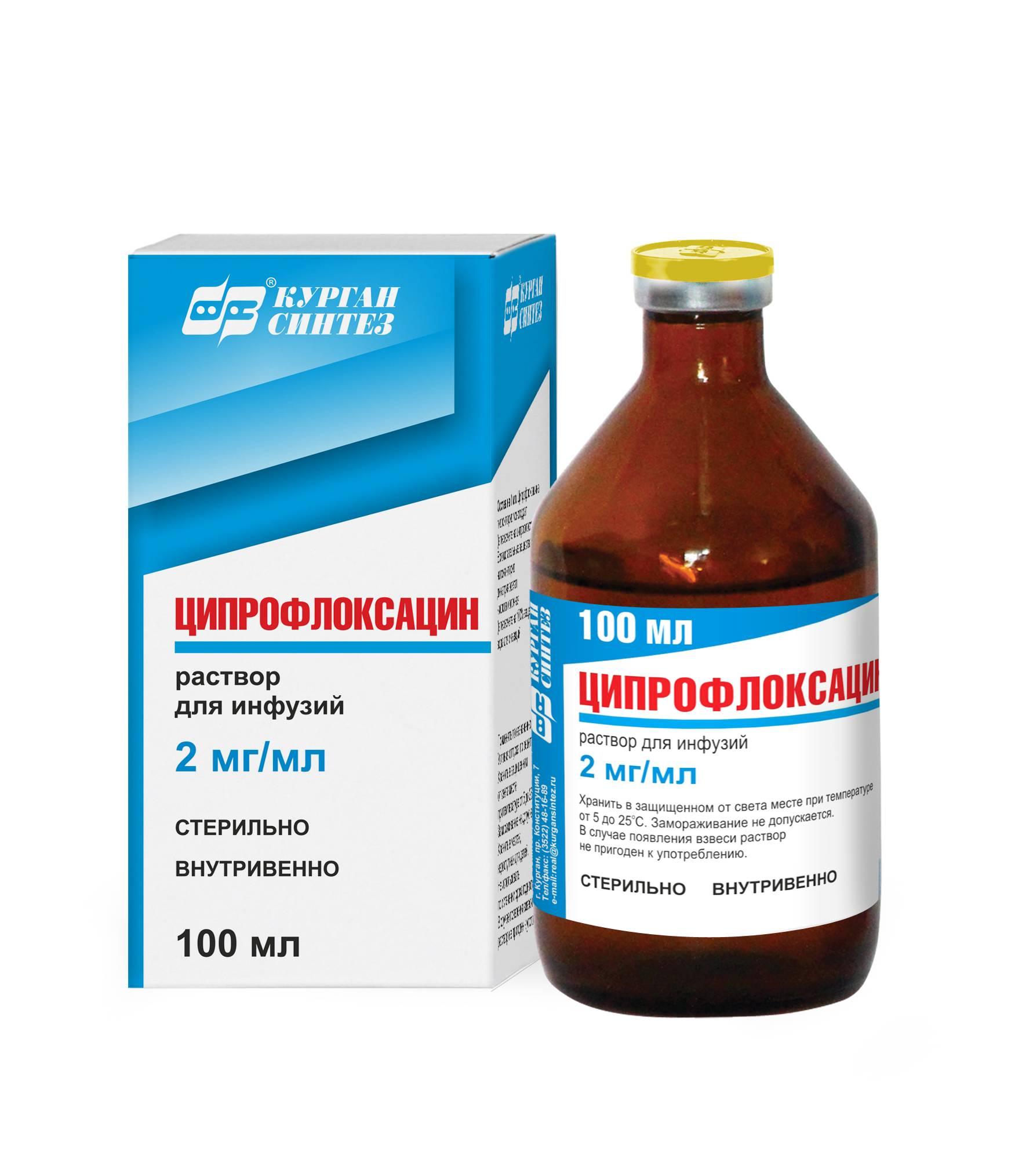 Лечение острого и хронического простатита ципрофлоксацином