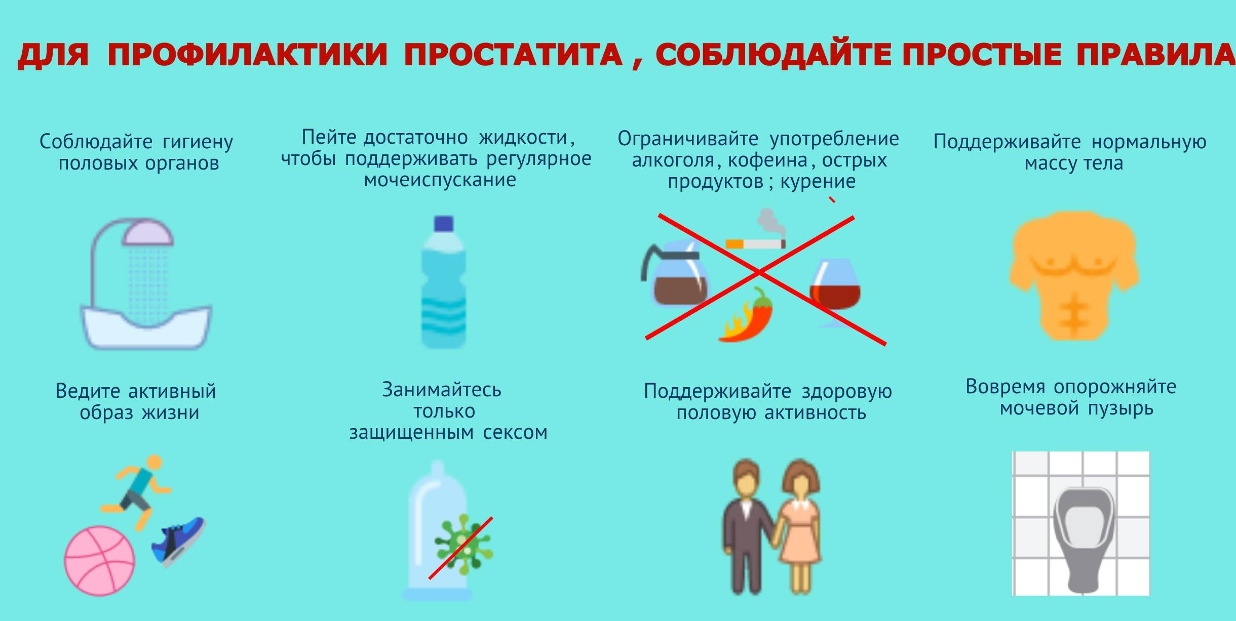 Все о профилактике простатита простатит симптомы лечение народные средства