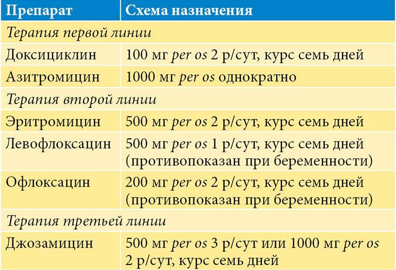 Лечение хламидиоза: антибиотики, схемы для мужчин и женщин