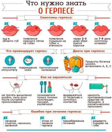 Лечение герпеса на губах за 1 день: эффективные средства и народные методы