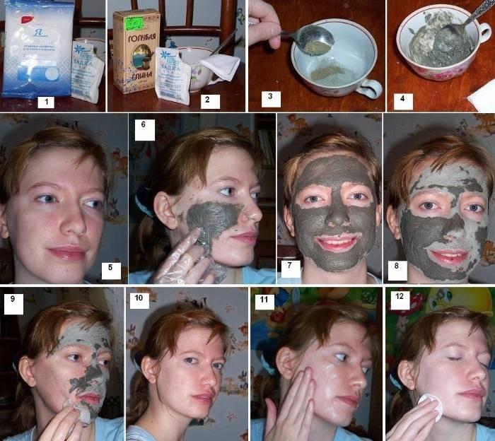 Маска для лица из глины от морщин: рецепты омоложения