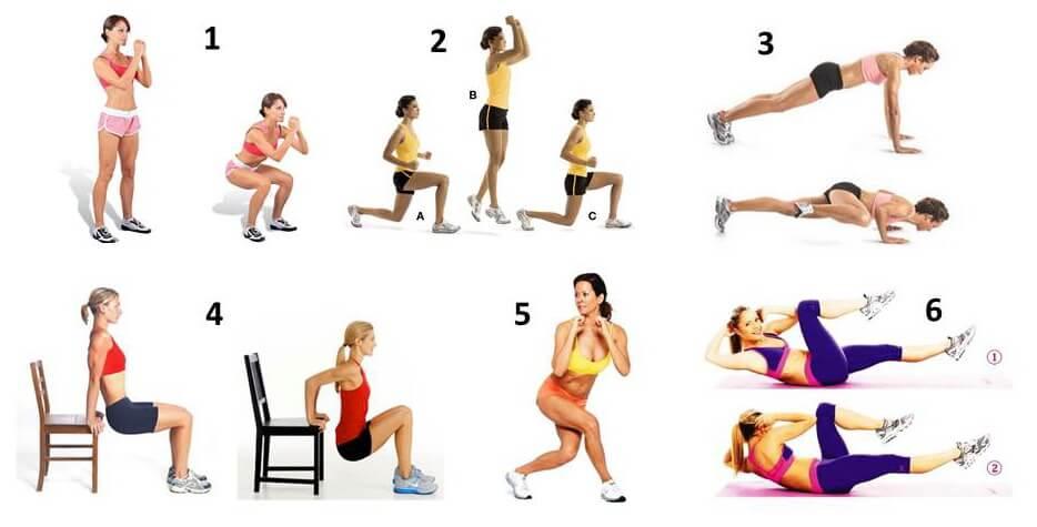 Комплекс упражнений для похудения дома на каждый день для мужчин
