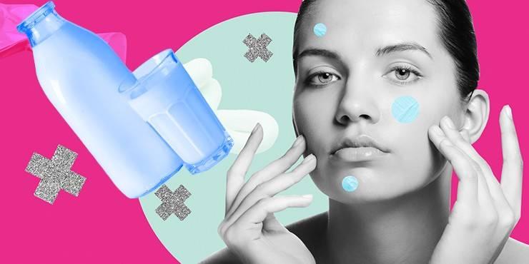 Прыщи от молока: что вызывает и как лечить?