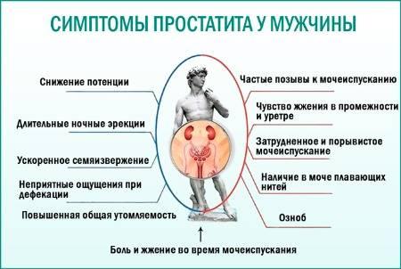 Особенности клинической картины и лечения простатита у мужчин